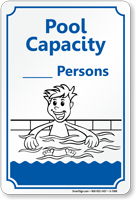 Pool Max Capacity Sign