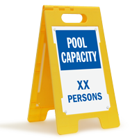 Pool Capacity XX Persons Custom Standing Floor Sign