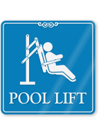 Pool Lift ShowCase Wall Sign