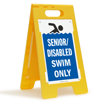 Senior Disabled Swim Only Floor Sign