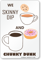 Skinny Dip and Chunky Dunk, Funny Pool Sign