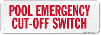 South Carolina Pool Emergency Sign