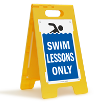 Swim Lessons Only Floor Sign