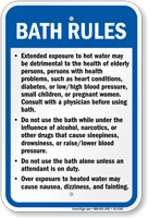 New Mexico Bath Rules Sign