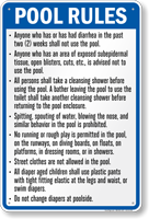 Indiana Pool Rules Sign