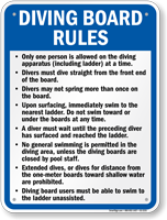 Texas Diving Board Rules Sign