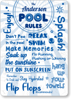 The Family Name Stay Hydrated Personalized Pool Sign