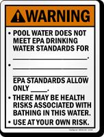 Utah Health Risk Pool Warning Sign
