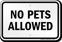 Utah No Pets Allowed Sign