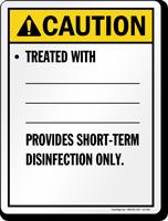 Utah Short-Term Disinfection Pool Sign