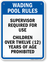 Oklahoma Wading Pool Rules Sign