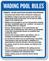 Wading Pool Rules Sign
