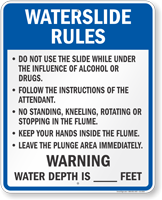 Waterslide Rules for Wisconsin