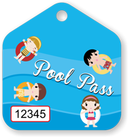 Pool Pass In Pentagon Shape, Kids Life Ring