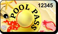 Pool Pass In Rectangular Shape, Fun On Beach