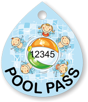 Pool Pass In Water Drop Shape, Kids Pool Ball