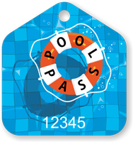Pool Pass In House Shape Life Ring Tag