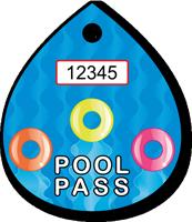 Pool Pass In Water Drop Shape, Life Rings Design