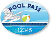 Pool Pass In Oval Shape, Pool Chair Ball