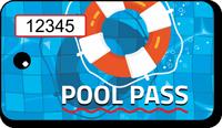Pool Pass In Rectangular Shape, Lifesaver Print