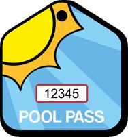 Pool Passes In House Shape, Sunrise Tag