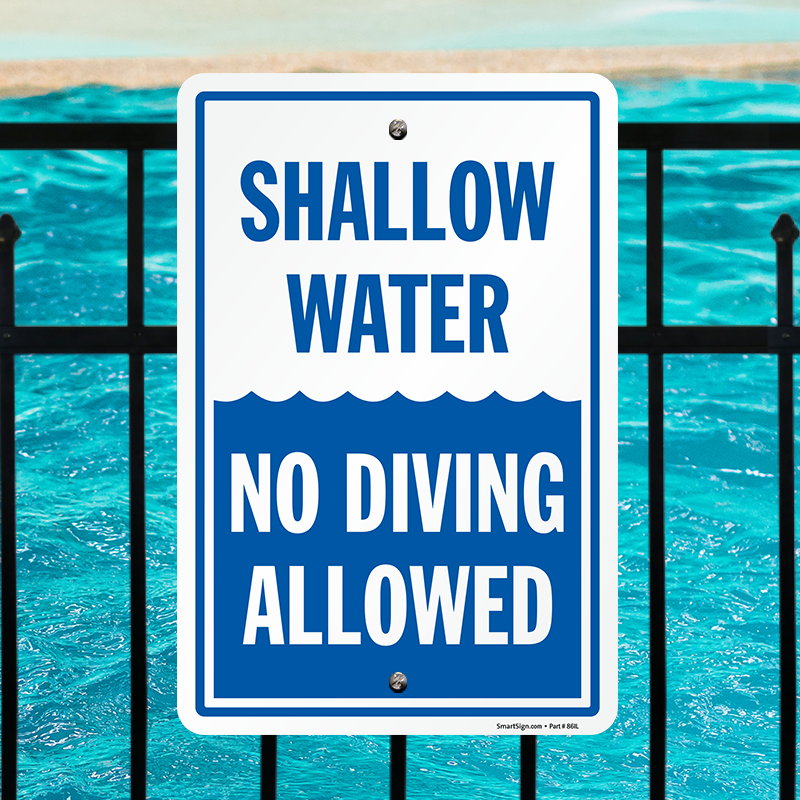 Shallow Water No Diving Allowed Sign | Free PDF, SKU: S-7095
