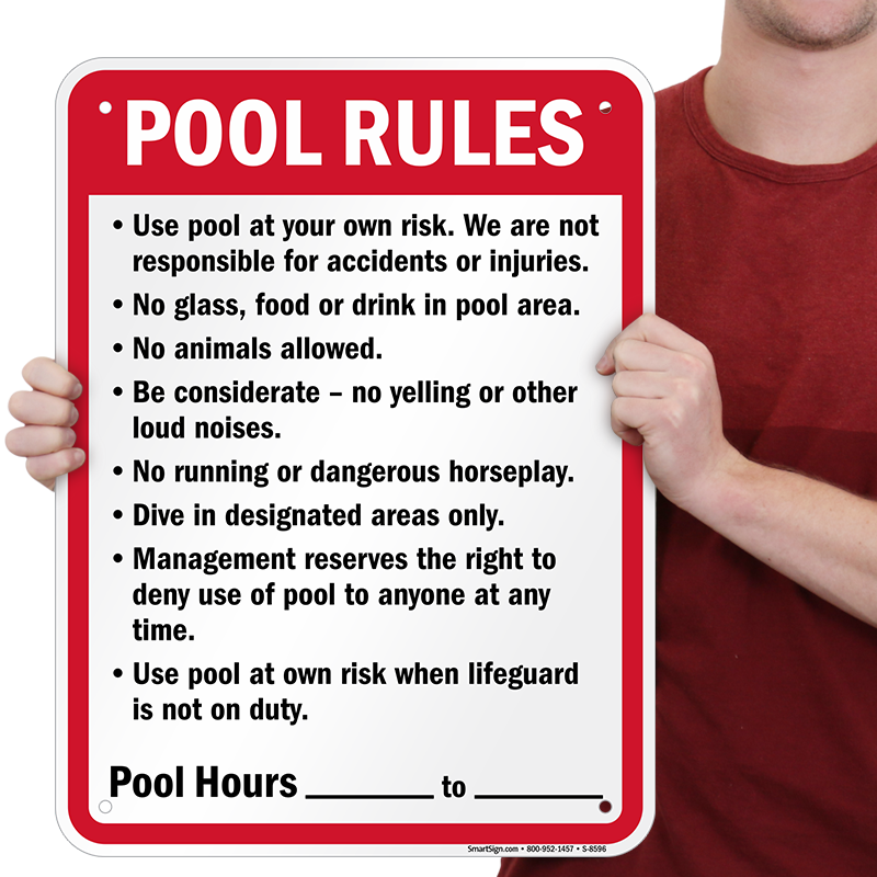 0119b7707b3 Humorous No Pee Pool Sign ...