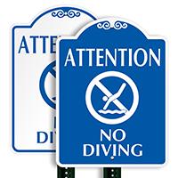 No Diving Allowed SignatureSign