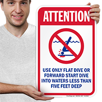 Attention Only Flat Or Forward Dive Signs