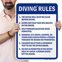 Diving Rules Signs