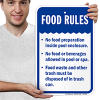 Food Rules Pool Safety Signs