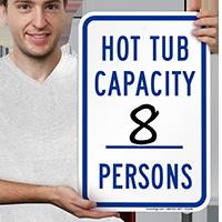 Hot Tub Capacity Signs