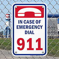 In Case Of Emergency Dial 911 Pool Sign
