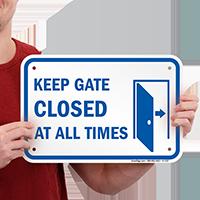 Keep Gate Closed Pool Signs