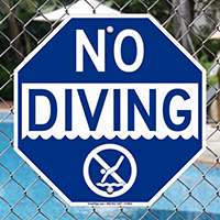 No Diving - Swimming Pool Signs