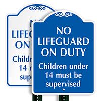 No Lifeguard On Duty SignatureSign
