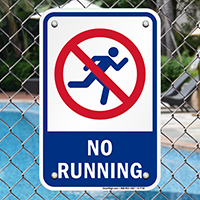 No Running Pool Safety Signs