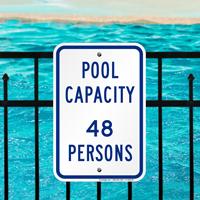 Pool Maximum Capacity Persons Signs