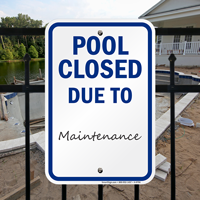 Pool Closed Due To Signs