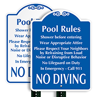 Shower Before Entering Pool Rules Sign