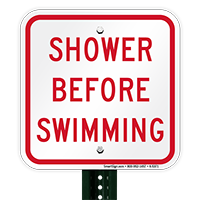 Shower Before Swimming Signs