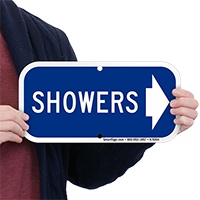 Showers (With Right Arrow) Signs