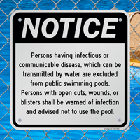 Swimming Pool Notice Signs