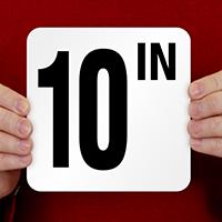 10 Inch Pool Depth Marker