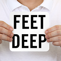 Feet Deep Pool Depth Marker