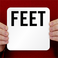 Feet Pool Depth Marker