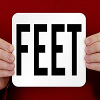 Feet Pool Depth Marker