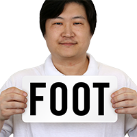 Foot Pool Depth Marker