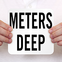 Meters Deep Pool Depth Marker