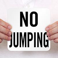 No Jumping Swimming Pool Marker